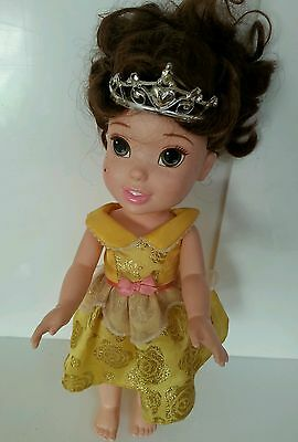 "DISNEY - My First Princess Belle 12"" Toy Doll Tolly Tots Plastic Collectible Toy"