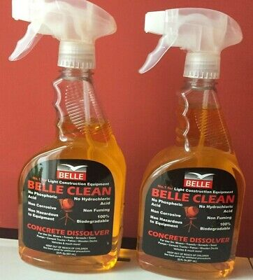 2 x Belle Clean spray Concrete Dissolver 650ml
