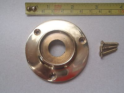 A Plain Cast Brass Door Knob Back Plate Rim Lock / Glass Knobs  60 Mm Diameter