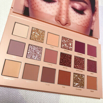 New HUDA Rose Gold Edition Textured Eye Shadow Palette 18 Colours UK EJA6