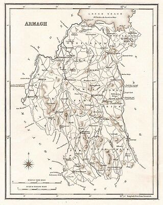 Map of County Armagh,N. Ireland. C1845.