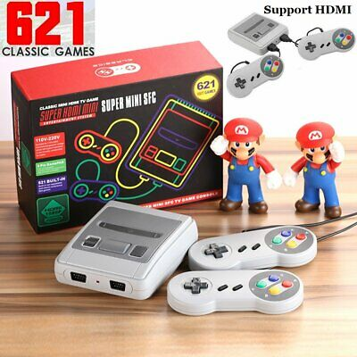 HDMI Retro TV Game Console NES Classic 621 Built-in Games 2 Controllers NTSC/PAL