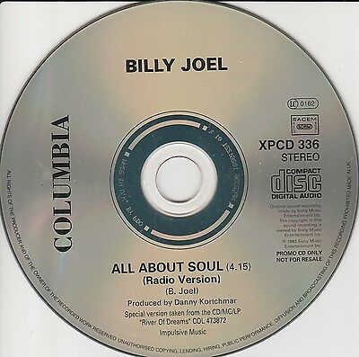 Billy Joel - All About Soul - Rare Promo only CD / mint condition