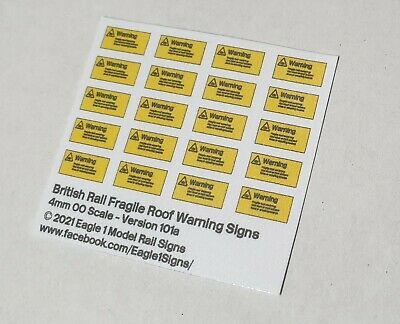 Rail Executive Version 4 x OO Scale /'Danger Don/'t Touch Conductor Rail/' Signs