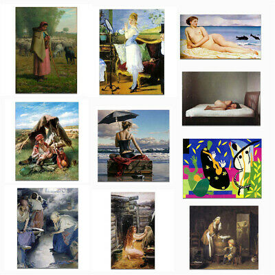 Canvas Classical Oil Painting Poster Picture Living Room Art Wall Decor Unframed