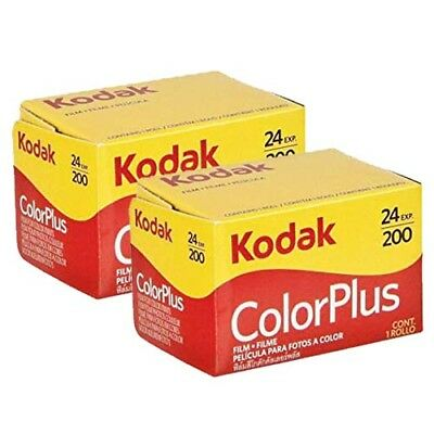 2x  Kodak Colorplus 200 35mm 24Exp -  CHEAP Colour Print Film