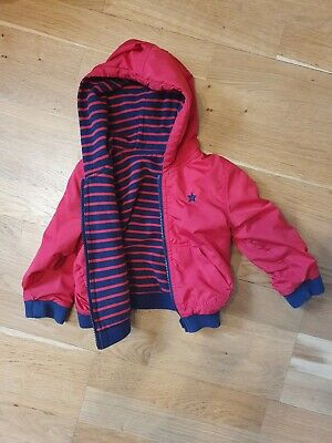 Next Red And Blue Reversible Boys Jacket, Age 1.5-2