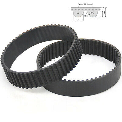 HTD 3M Closed  Timing  Belt 3mm Pitch 10-15mm Width CNC Drives-87mm to 108mm