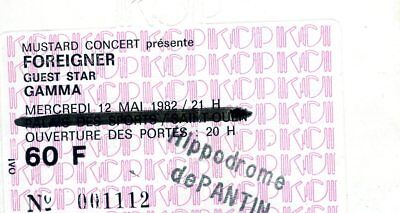 2 Used Tickets Foreigner   N°000446 & 001112 Concert 1982 Paris France Kcp