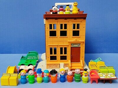 Fisher Price Play Family Sesame Street Haus 938 Little People Zubehör Vintage