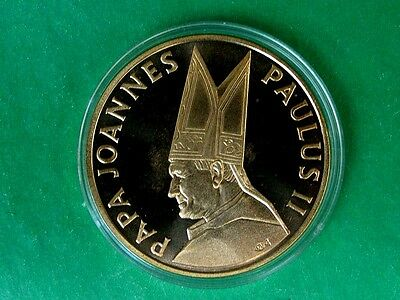 John Paul II  Large Coin/ Medal. Released by Latvian Bank Baltija to Papal Visit