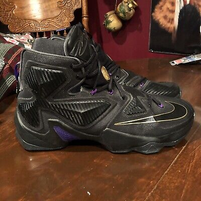 dcedbd6267f NIKE LEBRON XIII POT OF GOLD LAKER GAME PURPLE GOLD LA LAKERS 807219-