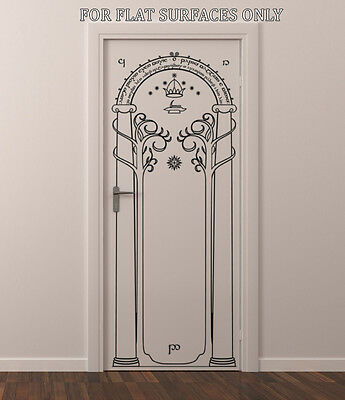 Lord Of The Rings Gates Of Moria Hobbit Door Or Wall Art Decor Decal