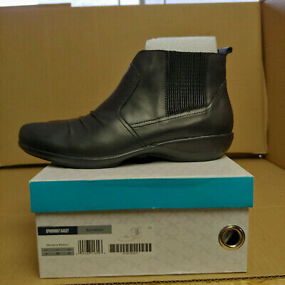 20870565057 AETREX WOMENS KARA Ankle Riding Boot Black Ankle Boots Size 5.5 ...