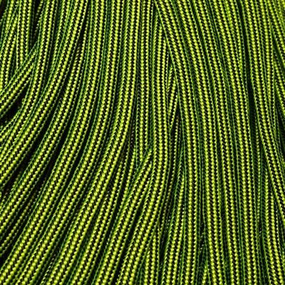 550 Paracord Mind Bender Neon Yellow and Black Stripes Made in USA 163-384