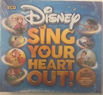 Various Disney Sing Your Heart Out!(3xCD) New Sealed Free UK P&P
