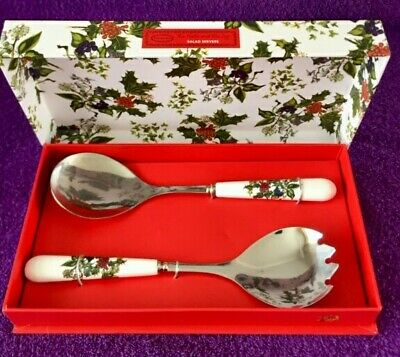 Portmeirion Holly & The Ivy Salad Servers Brand New & Boxed