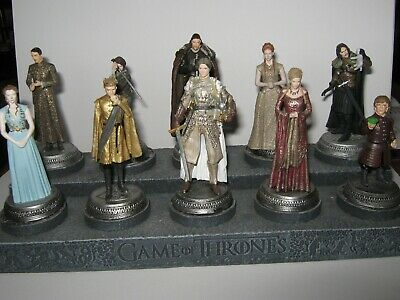 Game of Thrones Eaglemoss HBO  10 Figure Collection & Subscribers plinth stand