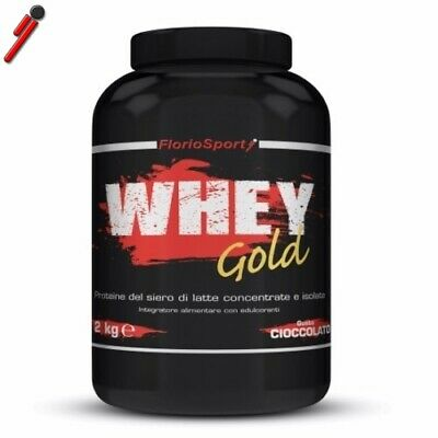 FlorioSport, Whey Gold, 2000 g. Proteine Siero Del Latte Concentrate e Isolate
