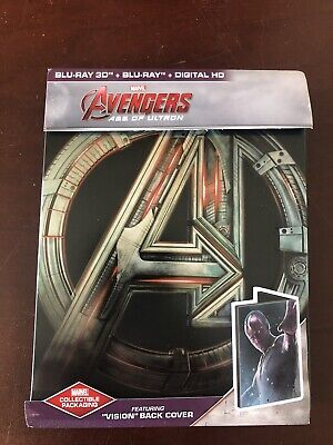 Avengers Age of Ultron Steelbook Like New 3d + Blu Ray Vision Edition