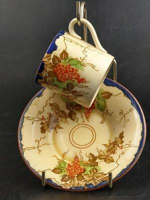 Bacchus Pattern with Grapes Coffee can and saucer Bursley ware  c1920