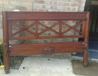 """Antique Solid Mahogany Handmade Four Poster Bed Double 4ft6"""""""