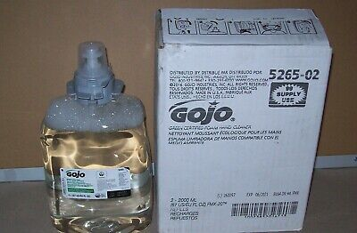 Restaurant Equipment Bar Supplies 2 GOJO 5265-02 FOAMING HAND CLEANER SOAP