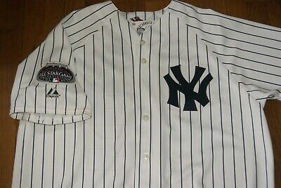 f4304bfb51a MLB Majestic 2008 All Star Game Jersey Pinstripes Chamberlin White Sz XL  Rare
