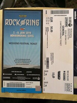 Rock am Ring 2019 Weekend + General Camping u Parking Ticket