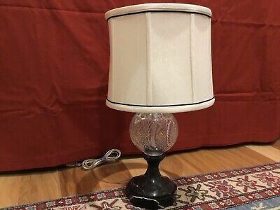 """*MINT* Waterford Crystal SEAHORSE Accent Electric Lamp 21"""" - VERY RARE - Lamp #2"""