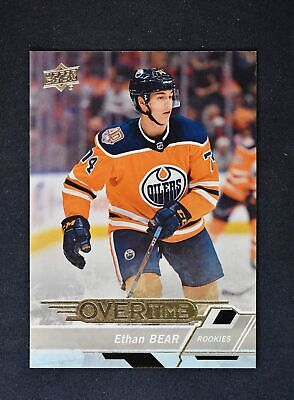 2018-19 18-19 UD Upper Deck Overtime Wave 3 Base Rookies #167 Ethan Bear RC