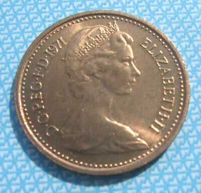 1971 ½p Half New Penny. Uncirculated. ex sealed roll.