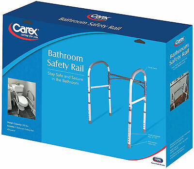 Carex Bathroom Toilet Safety Rails Handle Elderly & Handicap Safety Aid (D2)