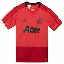 promo code cb618 9ba49 MANCHESTER UNITED ADIDAS Aon Training Shirt Top Kit (Pink) Mens Small