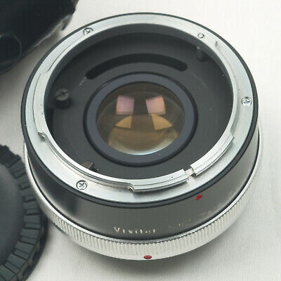 Vivitar MC Tele Converter 2X-4 Canon FL - FD Mount Lens Made in Japan Black Case