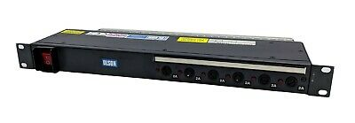 "Olson 2682 6-Way/6-Outlet 1U 19"" Rack Mount Fused PDU Power Distribution Unit"