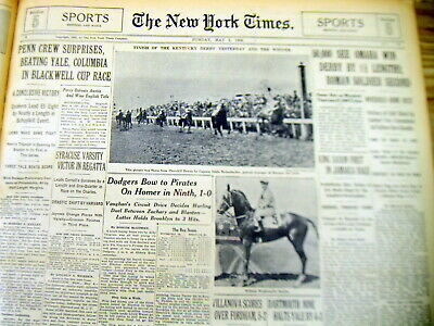 """3 1935 NY Times newspapers """"OMAHA"""" WINS KENTUCKY DERBY & PREAKNESS HORSE RACES"""