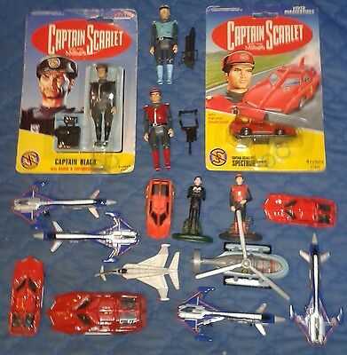 1993 *** Collection Of Captain Scarlet Figures And Vehicles Set 4 *** Vivid