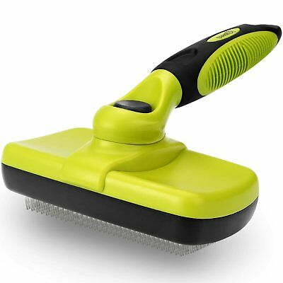 Dog Brush Self Cleaning Pet Cat Brush for Grooming Removes 90% of Dead Undercoat