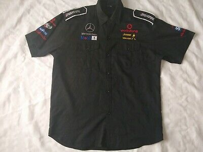 Official McLaren Mercedes-Benz Formula 1Team Pit Crew Shirt Men's Size Large