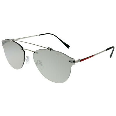 20051c376 PRADA MEN SUNGLASSES PS55TS 1BC2B0 Silver/Light Grey Mirror Silver ...