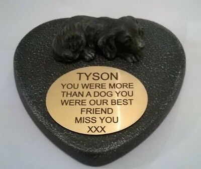 Dog Large Pet Memorial/headstone/stone/grave marker/memorial with plaque 26