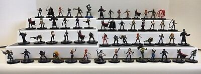 Heroclix MIXED LOT OF 56 Indy Marvel DC Red Blue Yellow Silver Unique Wizkids