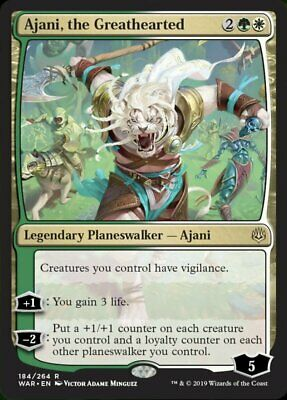 Magic the Gathering: MTG WAR OF THE SPARK AJANI THE GREATHEARTED FOIL PRERELEASE