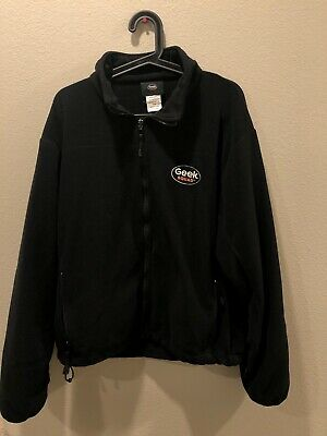 Black Geek Squad Best Buy 2-piece Jacket, Fleece and Polyester, Size M