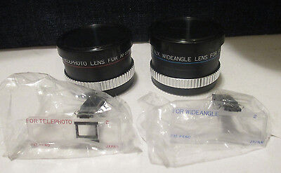 Rokinon Telephoto And Wide Angle Lens Set For Canon Sureshot 2 Af35Mii With Case