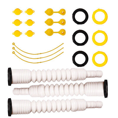 Upgrade 3 Packs Gas Can Spout Replacement Fuel Vent Kit For EZ POUR Plastic Cans