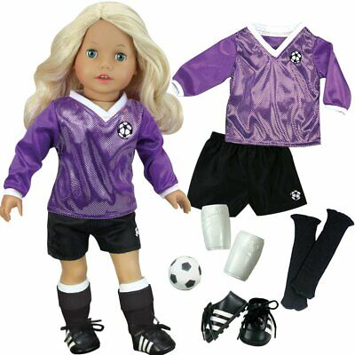 Sophia' Doll Clothes for 18 Inch Doll Soccer Outfit, Ball, Black Socks & Cleats