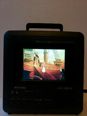 Sansui CLD0065 6 inch LCD Portable AC/DC Television With Builtin VCR