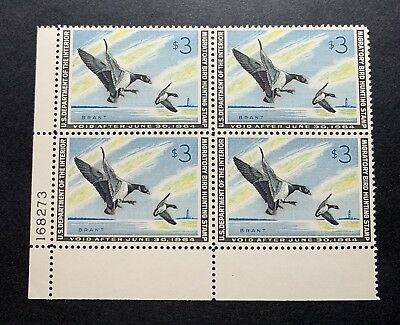 WTDstamps - #RW30 1963 Plate# Block - US Federal Duck Stamp - Mint OG NH